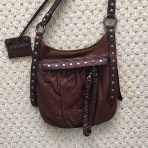 Brown leather Juicy Couture bag